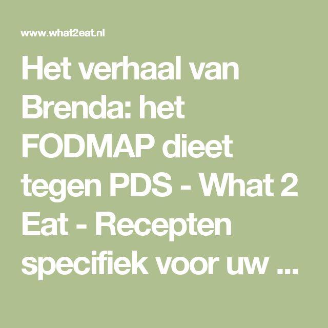 Het verhaal van Brenda: het FODMAP dieet tegen PDS - What 2 Eat - Recepten specifiek voor uw dieet.