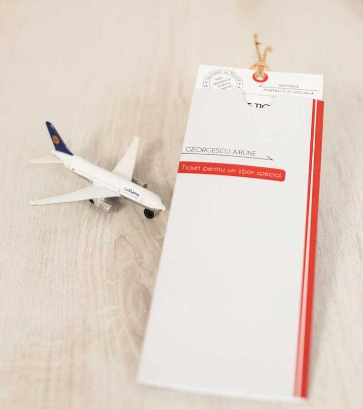 Invitatie de nunta Bilet de avion Wings of Love_1