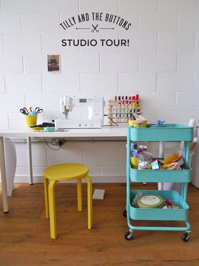 Sewing space inspiration: Tilly and the Buttons: Behind the Scenes... Studio Tour!