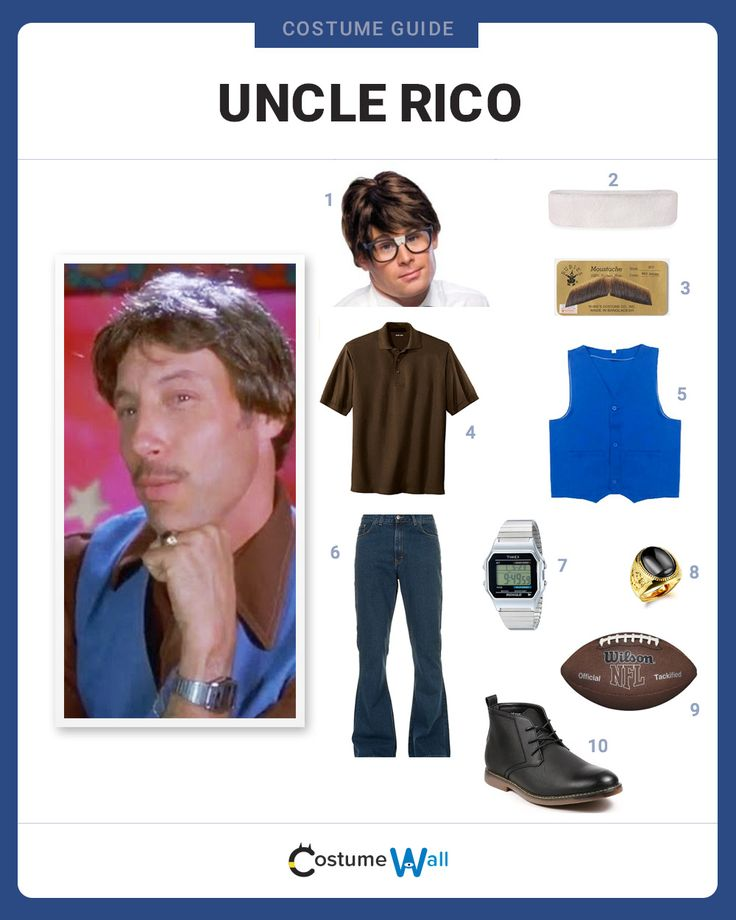 Get in costume as the freeloading Uncle Rico, the Uncle to Napoleon who believes he should have been a football star.
