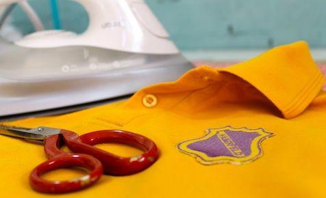 How To Turn A Plain Polo Shirt Into A School Uniform Shirt #backtoschool