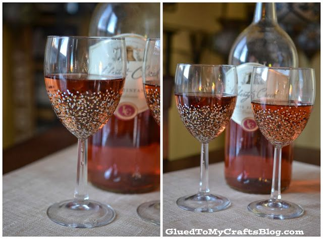Glued to my Crafts: DIY Painted wine glasses - That Won't Wash Away {Craft}