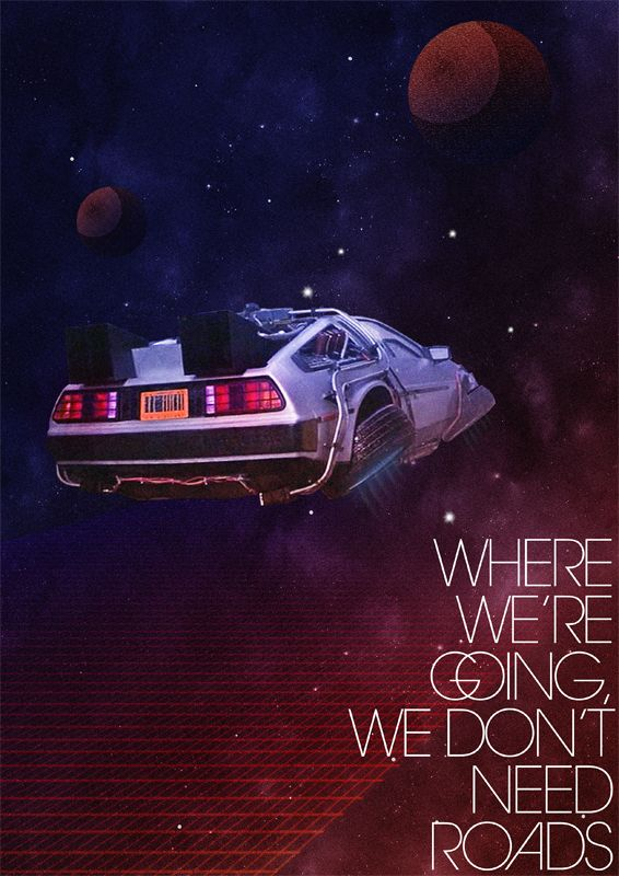 I really liked this, but basically anything with the Delorean gets my seal of approval - Back to the Future by Rafael Kamberi