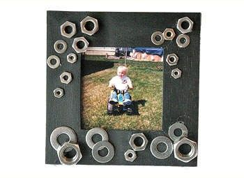 recycling nuts and bolts, on a frame