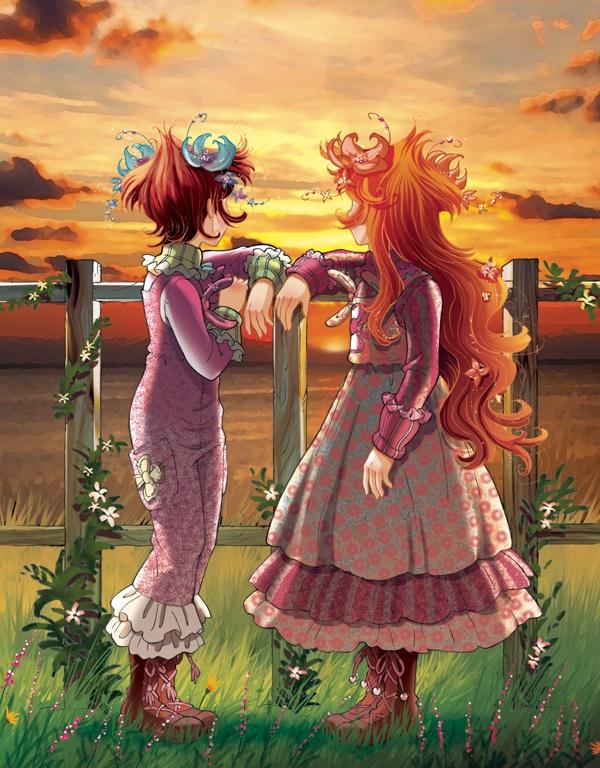 Fairy Oak-Vainilla y Pervinca De pequeñitas, mirando el cielo
