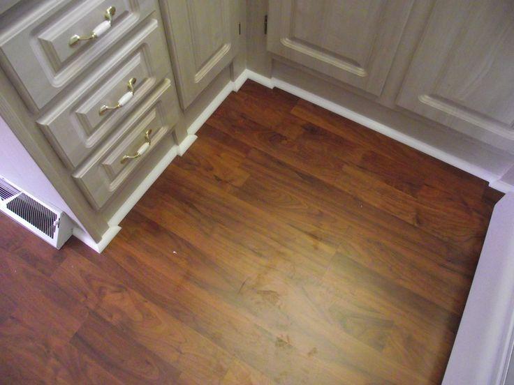 Delightful Allen Roth Laminate Flooring Installation Instructions Part - 13: Allen Roth Laminate Installed In Small Kitchen With Quarter Round.