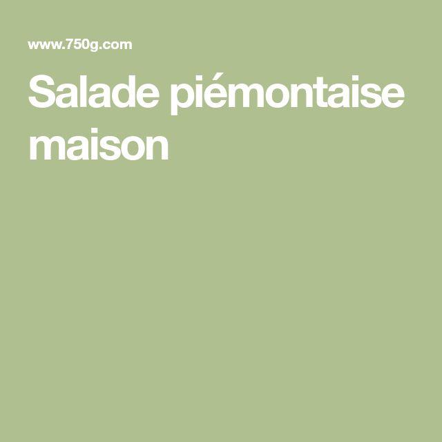 Salade piémontaise maison