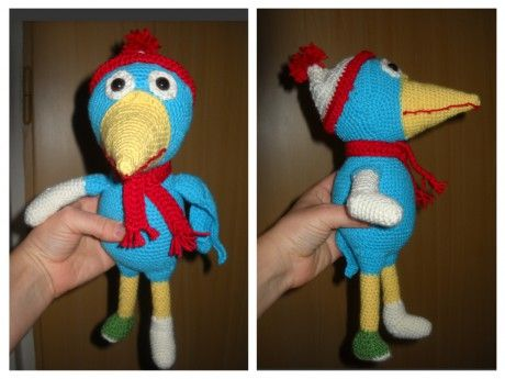 Heroes of the city ,Crochet Calamity crow - Pták Pohromák #calamity #crow #ptak  #pohromak