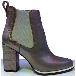 Block Heel Bronze