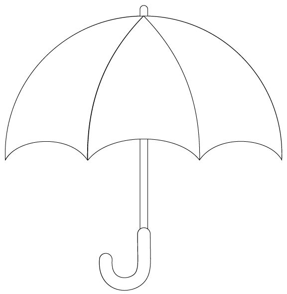 Umbrella Template. Umbrella Template Vector [Ai] Template Vector