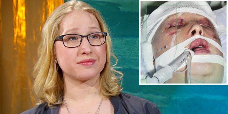 Emma Pettersson berättade i Fråga doktorn om händelsen när hennes ex nära på misshandlade henne till döds.