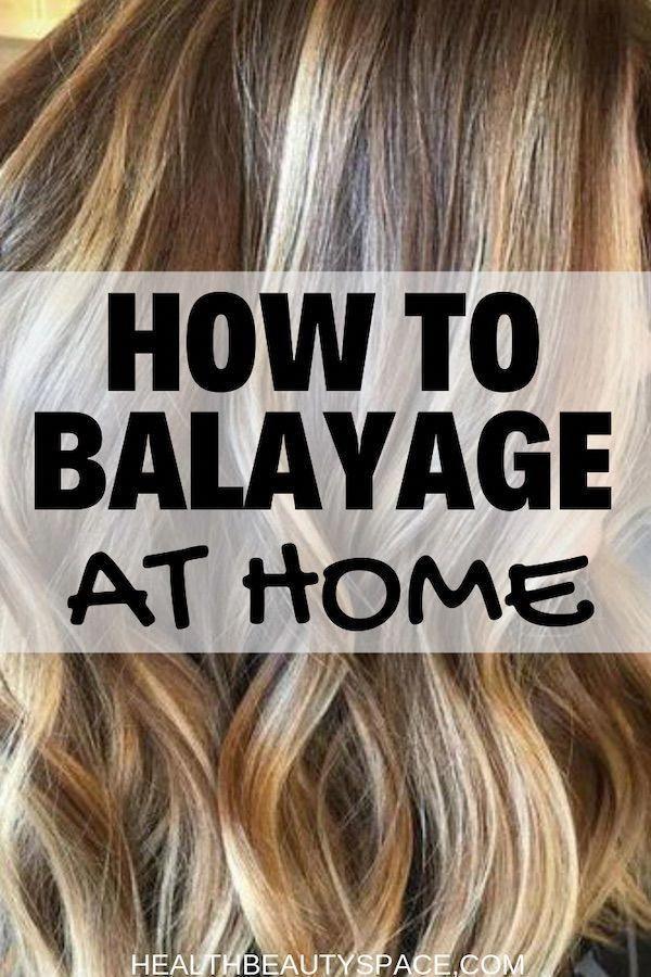 Learn how to do a wonderful balayage yourself at home #shorthairbalayage