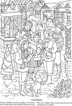 Christmas Traditions Around The World Coloring Pages | Coloring Pages