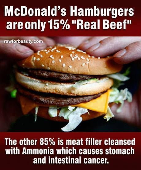 Fast food is not healthy - it's much better to feed your body real, natural foods without all the chemicals and preservatives!