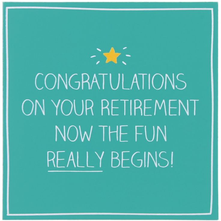 CONGRATS RETIREMENT NOW THE FUN REALLY BEGINS