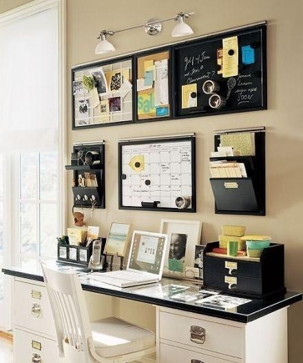Wonder what I can put in a wall organizer like this to unclutter the desk!