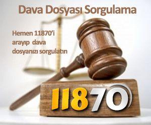 11870 dava sorgulama servisi ile dava dosyası sorgulayabilir, mahkeme ve dava sonucunuzu öğrenebilirsiniz.