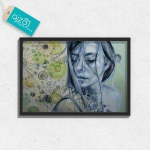 Plakat w ramie PORTRET KOBIETY. #malarstwo #portret #kobieta #reprodukcje #plakat