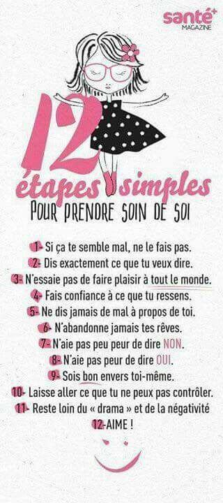 12 étapes simple pour prendre soin de soi