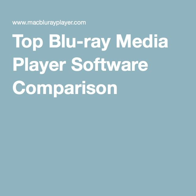 Top Blu-ray Media Player Software Comparison