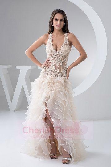 Super Sexy Allure Criss Cross Tiers Mermaid Wedding Party Dress #Cherishdress#