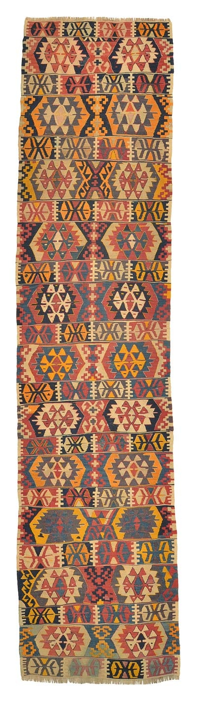 Vintage Konya Kilim Runner around 70 years old.