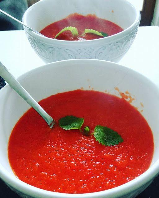 Zdrove KarmeLove: Zupa krem z papryki! Banalnie prosta! Dieta dr Dąbrowskiej :)