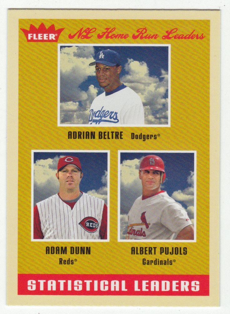 Albert Pujols / Adrian Beltre / Adam Dunn # 10 - 2005 Fleer Tradition Baseball