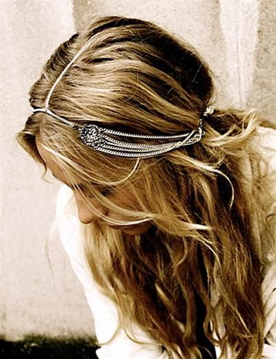 I am dying over this headpiece!!  It is kind of subtle... (as subtle as a gypsy…