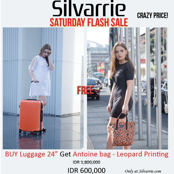 Super crazy PRICE! Beli Antoine  bag  Leopard Printing & Travel Case - 24 inche cuma Rp. 600,000! Ayo buruam stocknya cuma 10pcs aja ya.. Hanya belanja di www.Silvarrie.com Menangkan juga hadiah 6 tas Silvarrie & Voucher Carrefour total Rp.500,000. Caranya: Beli produk apa saja di Silvarrie.com, tulis review mengenai produk Silvarrie & share ke sosial media, jangan lupa tag/mention @silvarrie Info: WA 0811215106 📱BBM D3041DC5 📱LINE silvarriebags . . . #silvarrie #tasdiskon #diskontahunbaru
