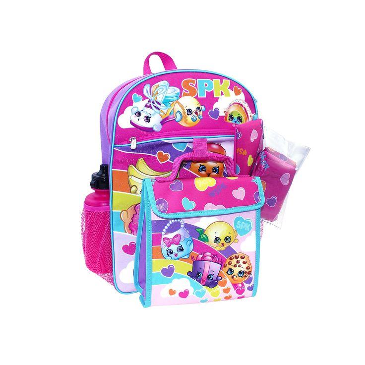 Shopkins 5-pc. Backpack Set, Multicolor