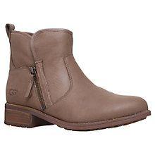 Buy UGG Lavelle Side Zip Ankle Boots, Tan Online at johnlewis.com