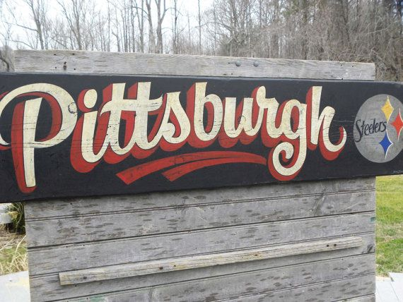Pittsburgh Steeler  sign  Hand Painted Sign  by ZekesAntiqueSigns