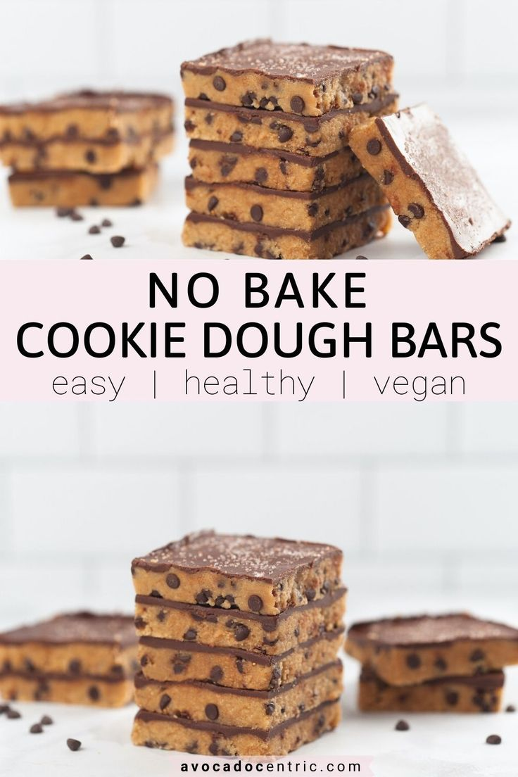 These no bake cookie dough bars are vegan, gluten-free, healthy and easy to make! It is dairy-free, quick, refined sugar…