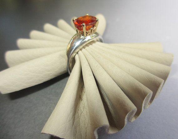 Vintage inspired Spessartite Garnet Scroll by AndreaIsaacJewellery, $280.00