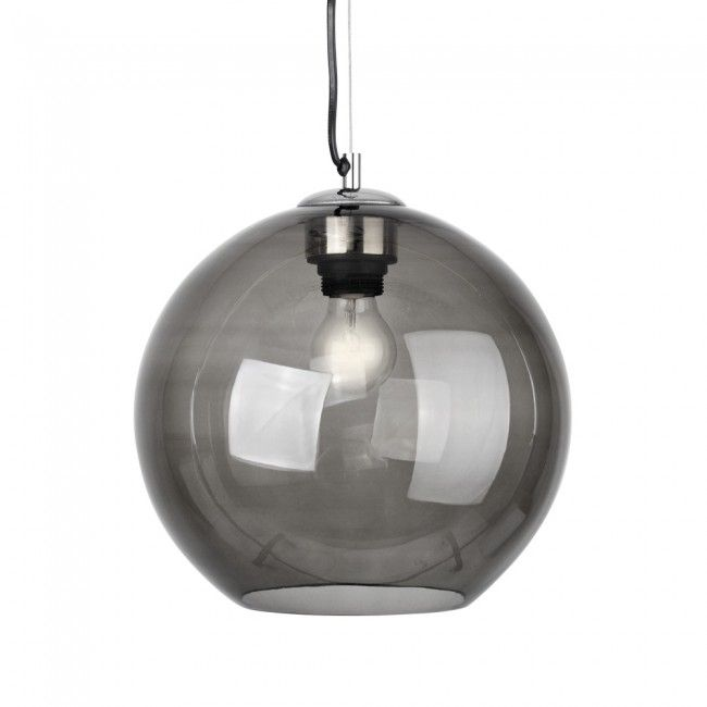 The Industrial Style Collection Polished Chrome & Tinted Glass Globe Pendant