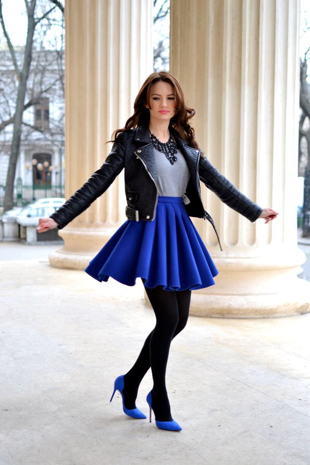 Royal blue pantyhose nylons tights what maid