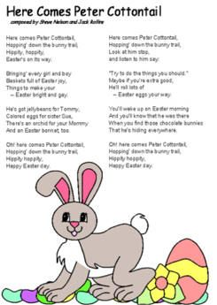 Peter Cottontail lyrics