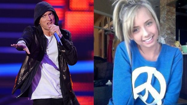 Eminem and his daughter Hailie Jade Mathers
