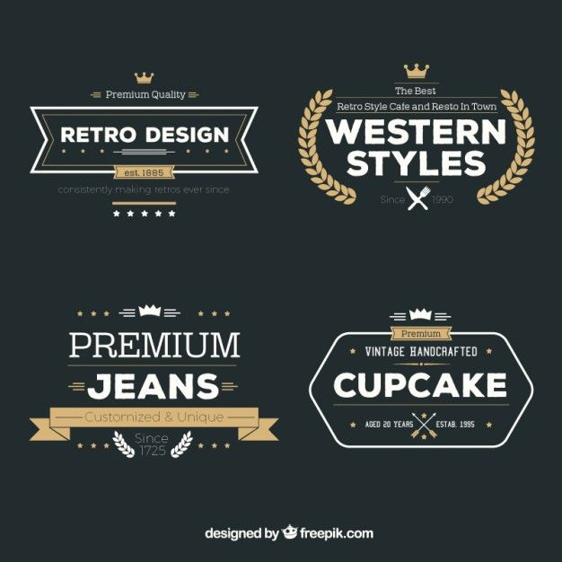 Variety of retro badges Free download