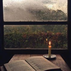 reading by candlelight, whilst the rain patters on the window pain - simple joys