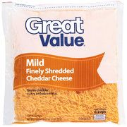 Great Value: Mild Cheddar Finely Shredded Cheese, 32 Oz