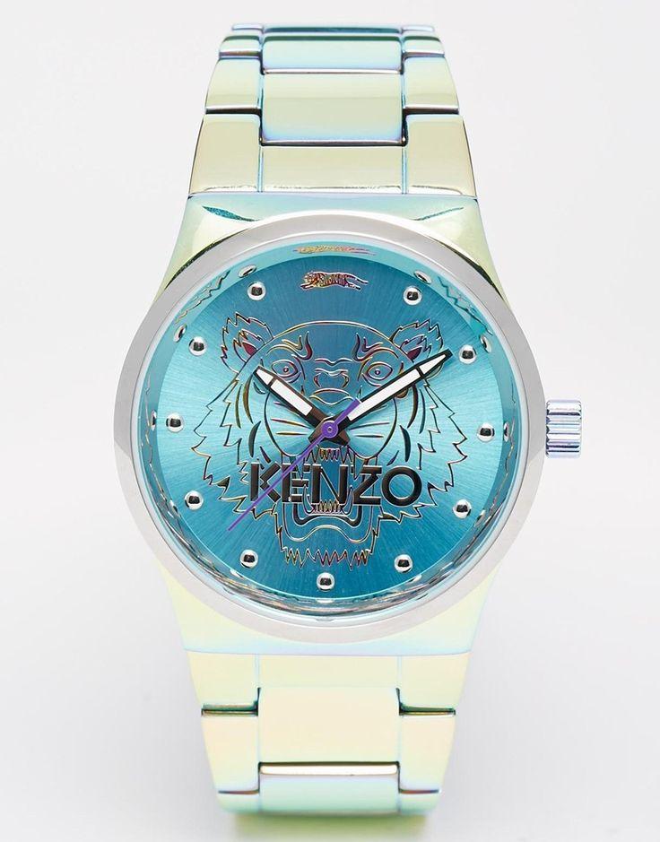 Kenzo Silver Rainbow Small Tiger Head Watch