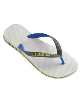 Havaianas Mens Brasil Mix White Grey