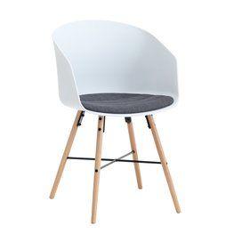 Krzesło KALVEHAVE białe/dąb
