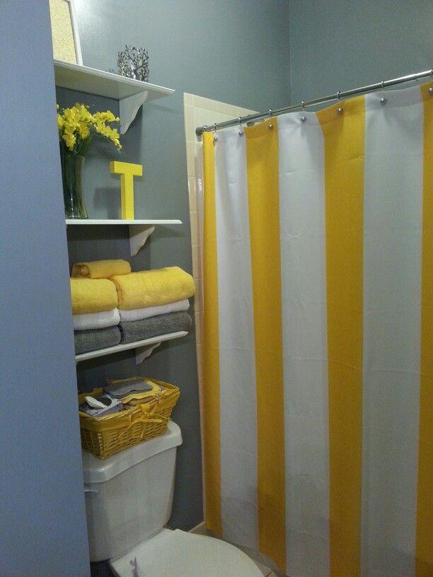 Finally finished my gray/yellow bathroom