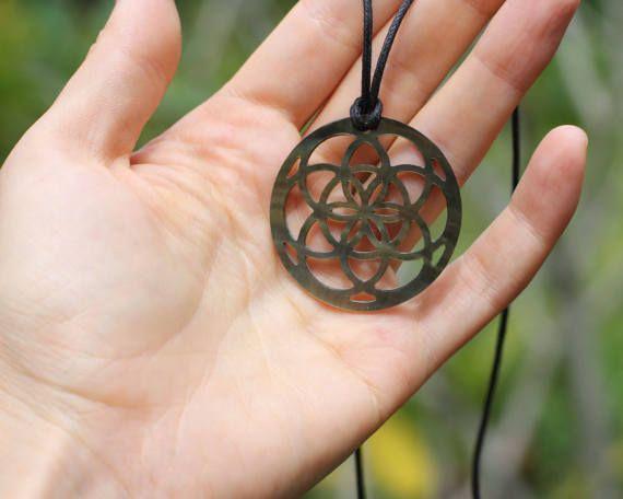 Seed of Life Pendant Sacred Geometry Necklace Yoga