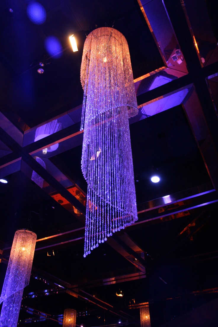 Tall Crystal Chandelier by Staging Connections at InterContinental Adelaide