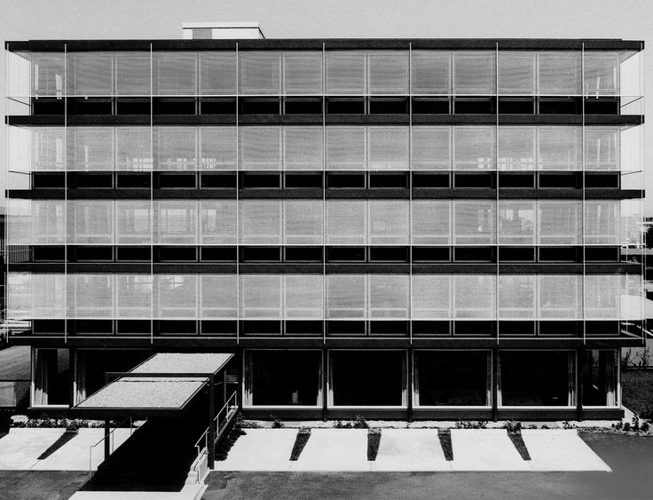 "Administration of ""Stahlbauwerk Gustav Müller"" (1958-61) in Offenburg, Germany, by Egon Eiermann"