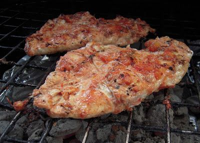 Grilled Salsa Chicken - chicken marinated in salsa, lime juice and seasonings and grilled - great in tacos or on top of salads